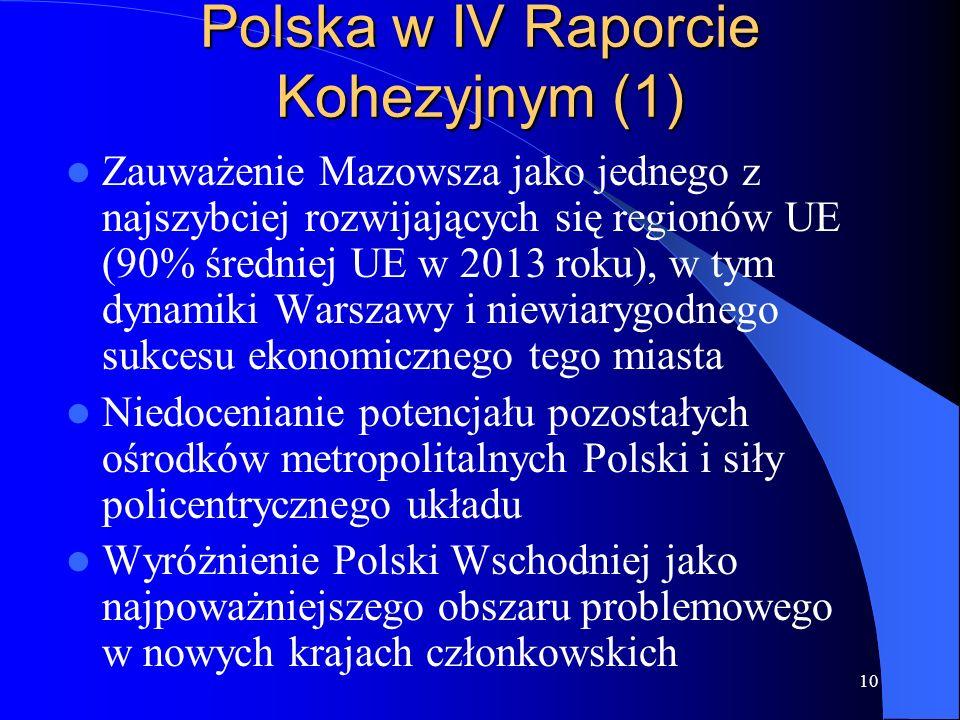 Polska w IV Raporcie Kohezyjnym (1)