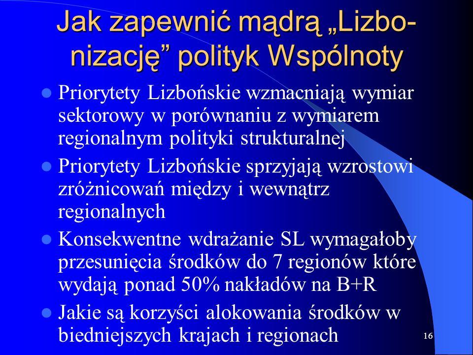 """Jak zapewnić mądrą """"Lizbo-nizację polityk Wspólnoty"""