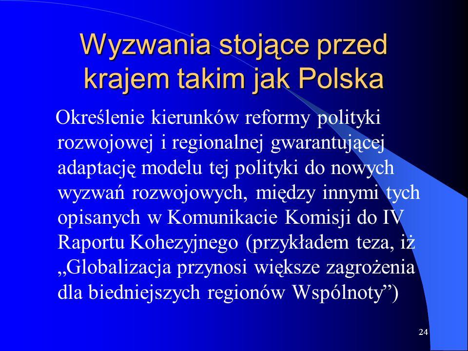 Wyzwania stojące przed krajem takim jak Polska