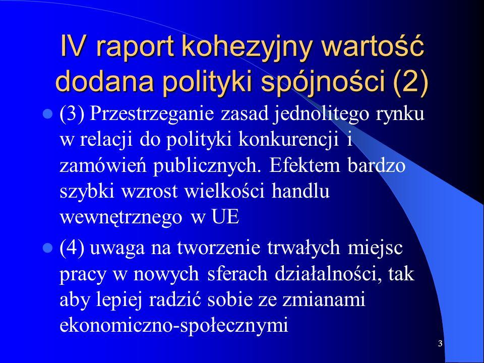 IV raport kohezyjny wartość dodana polityki spójności (2)