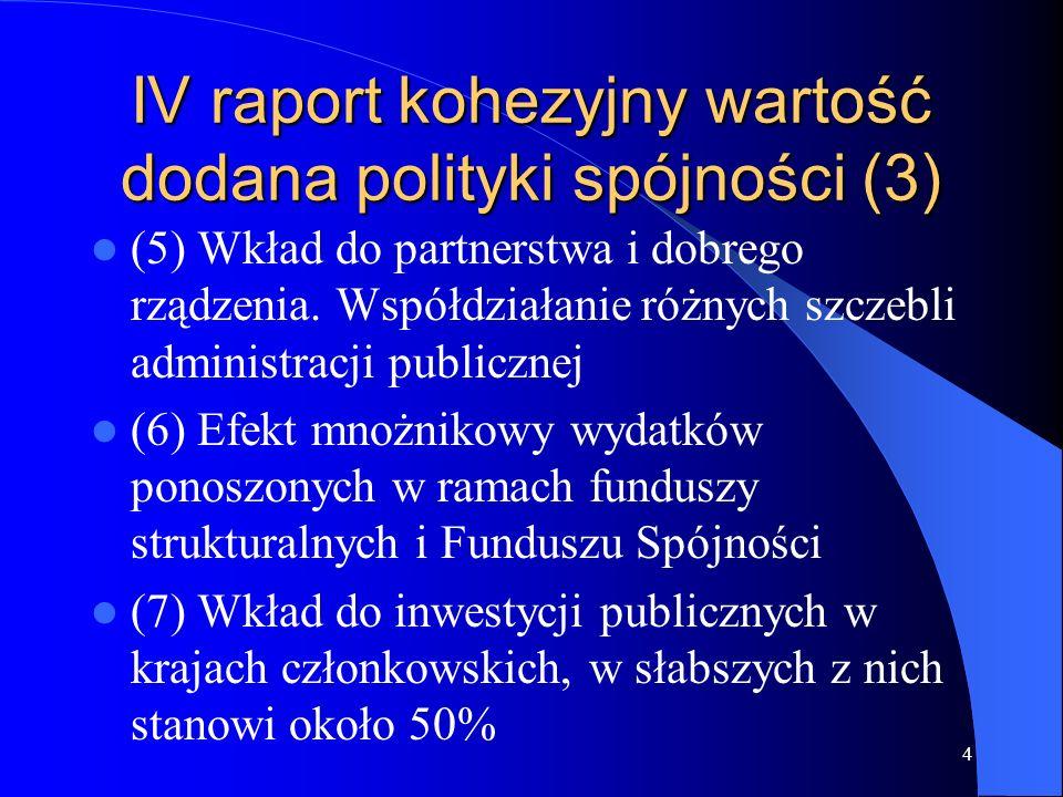 IV raport kohezyjny wartość dodana polityki spójności (3)