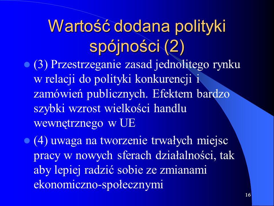 Wartość dodana polityki spójności (2)
