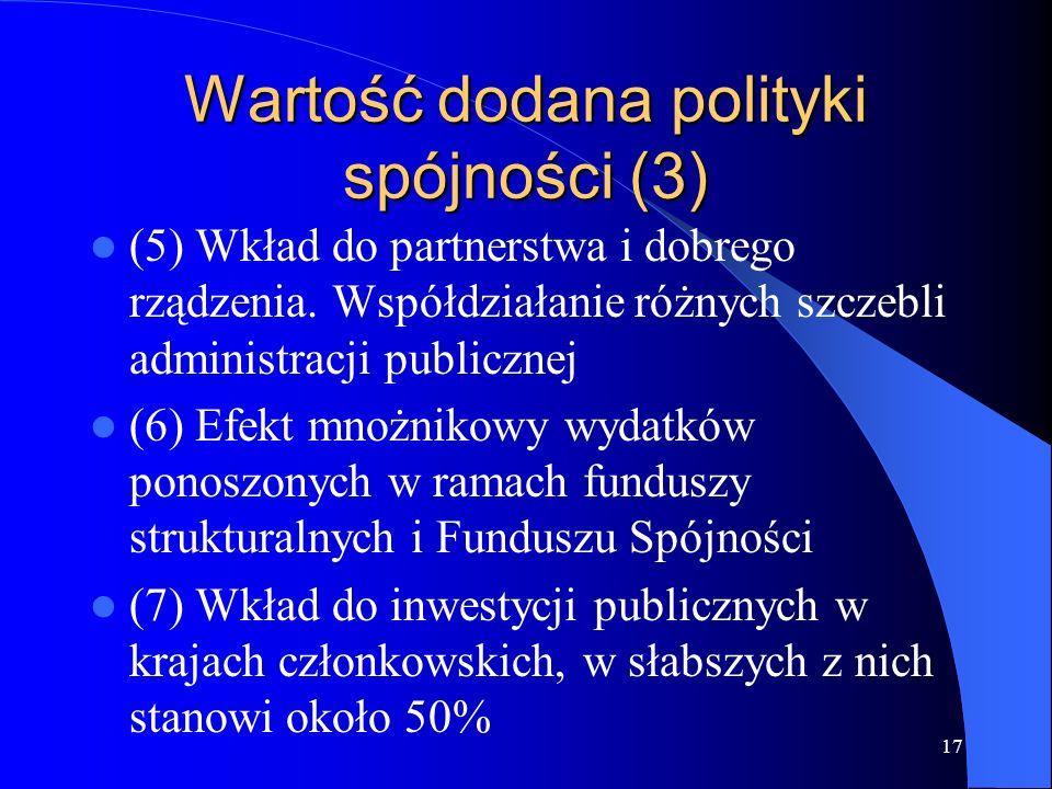 Wartość dodana polityki spójności (3)