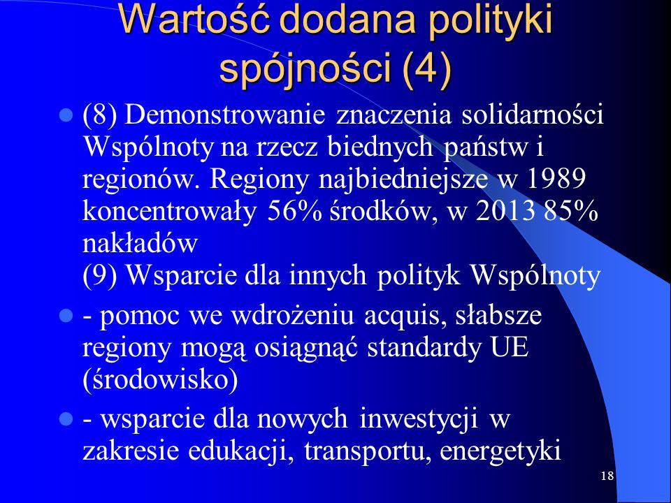 Wartość dodana polityki spójności (4)