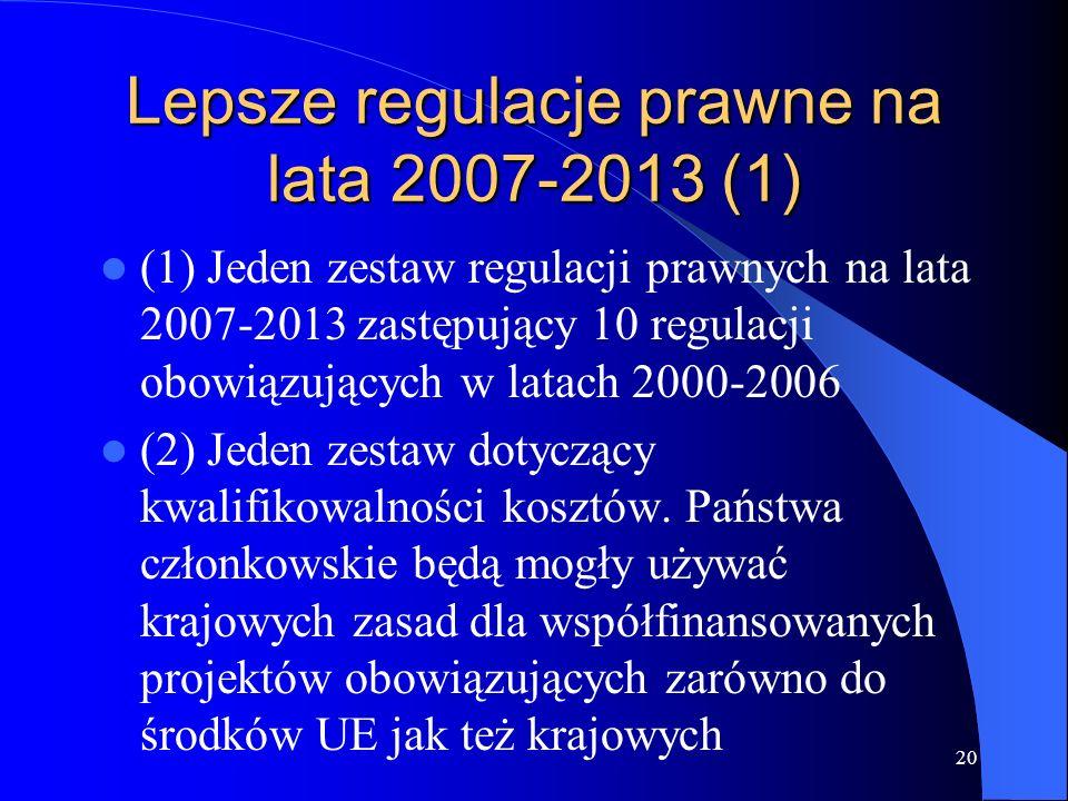 Lepsze regulacje prawne na lata 2007-2013 (1)