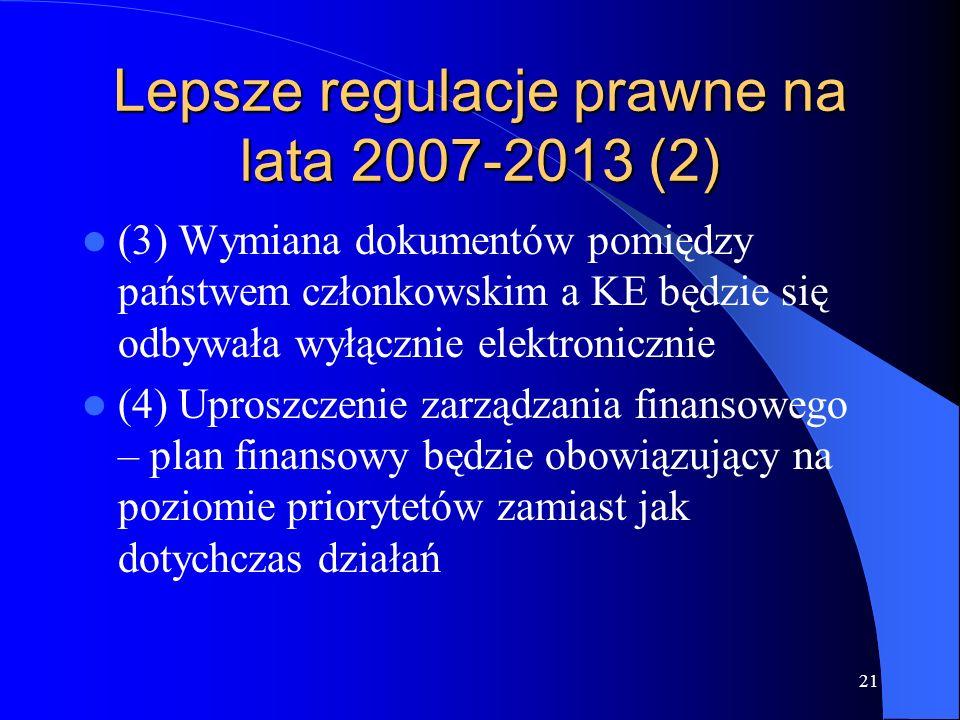 Lepsze regulacje prawne na lata 2007-2013 (2)