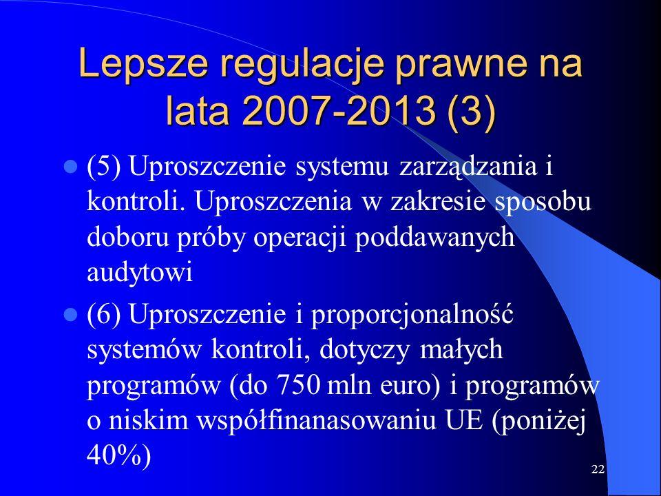 Lepsze regulacje prawne na lata 2007-2013 (3)