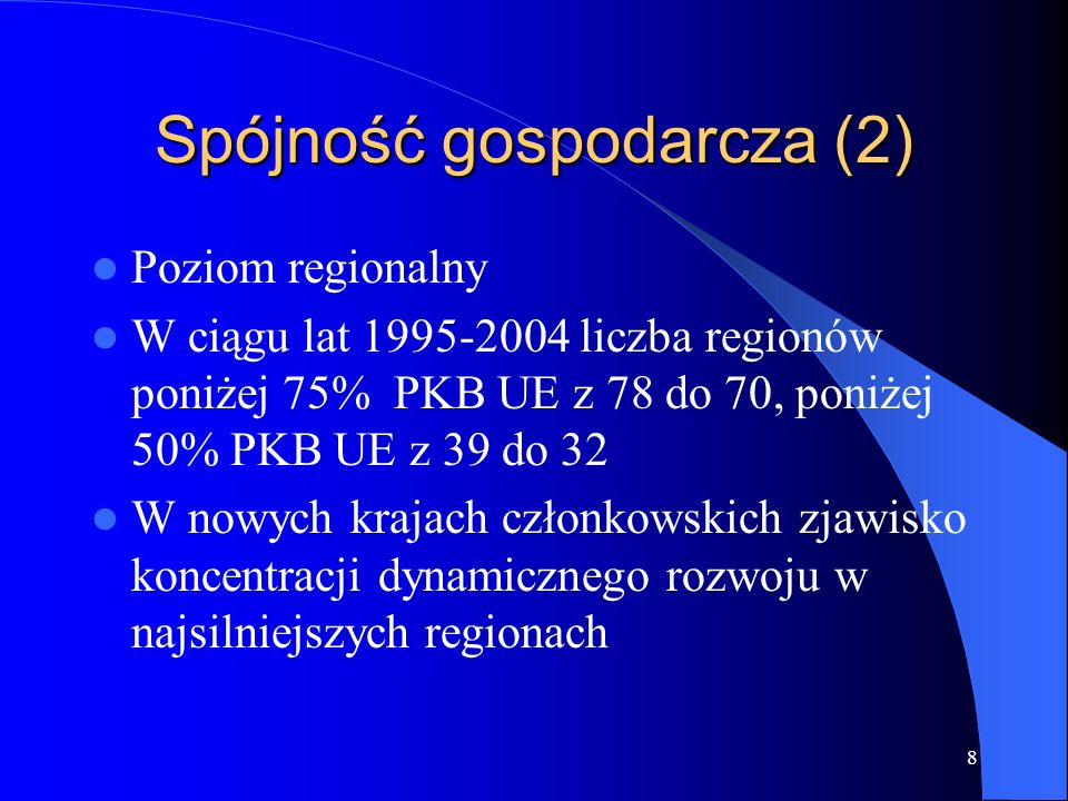 Spójność gospodarcza (2)