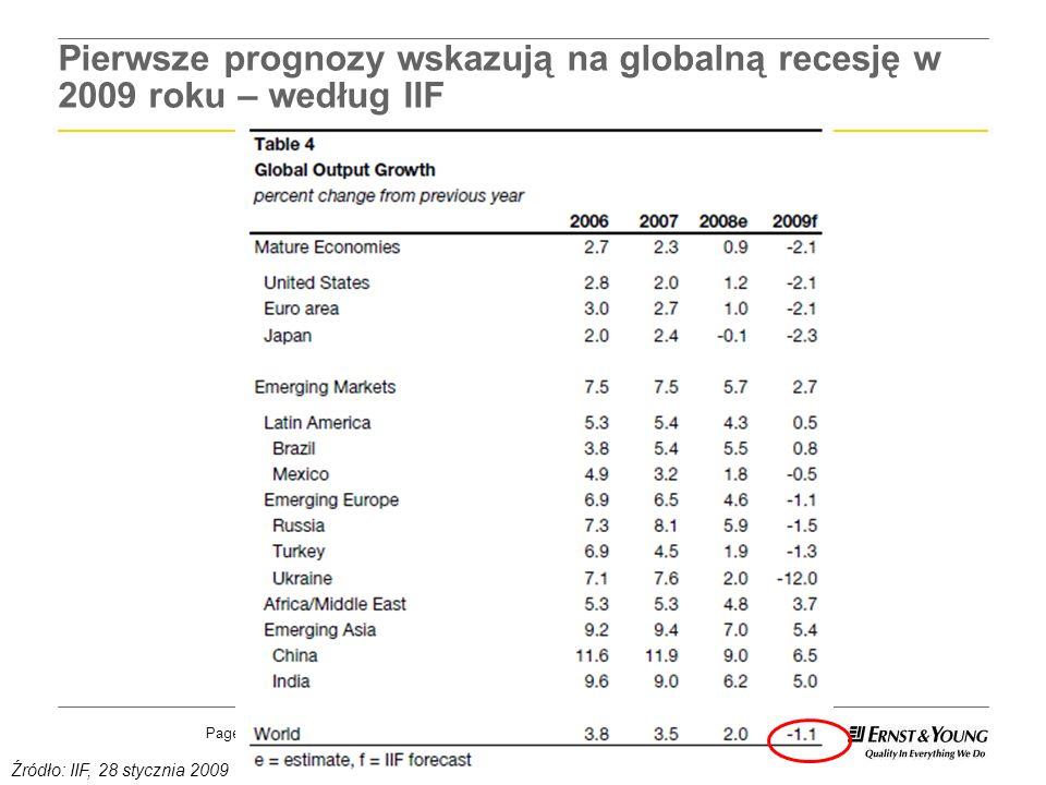 Pierwsze prognozy wskazują na globalną recesję w 2009 roku – według IIF