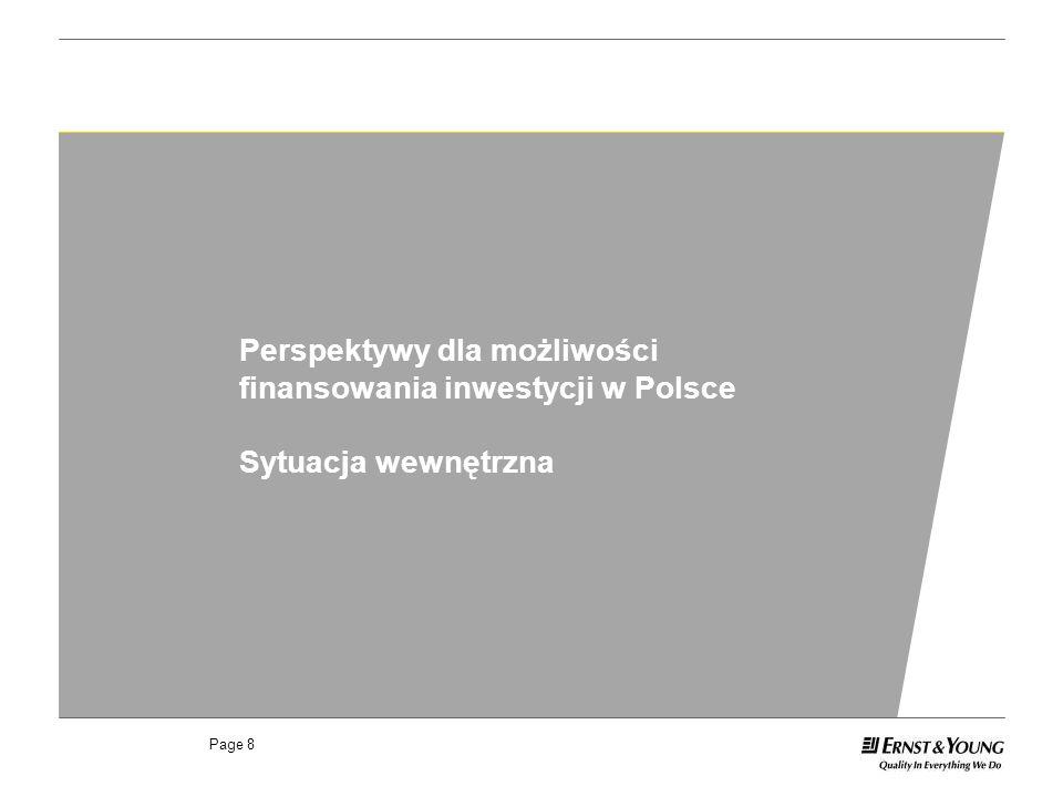 Perspektywy dla możliwości finansowania inwestycji w Polsce
