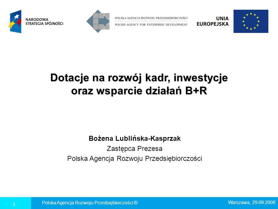 Dotacje na rozwój kadr, inwestycje oraz wsparcie działań B+R