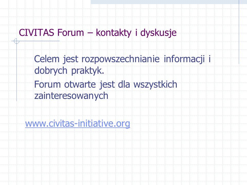 CIVITAS Forum – kontakty i dyskusje