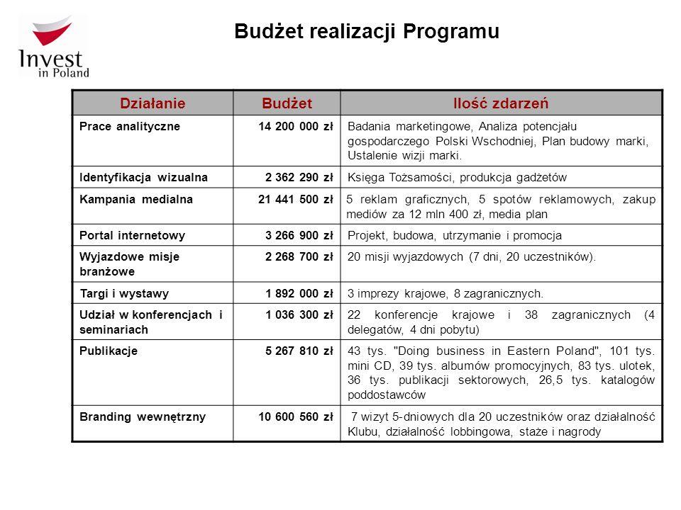 Budżet realizacji Programu