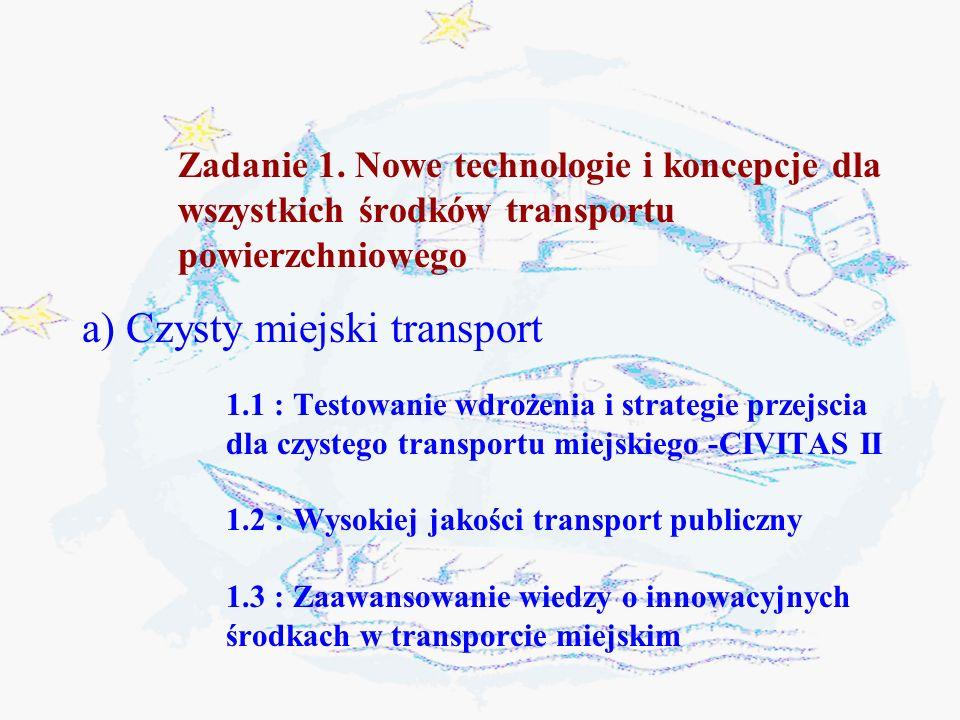 a) Czysty miejski transport