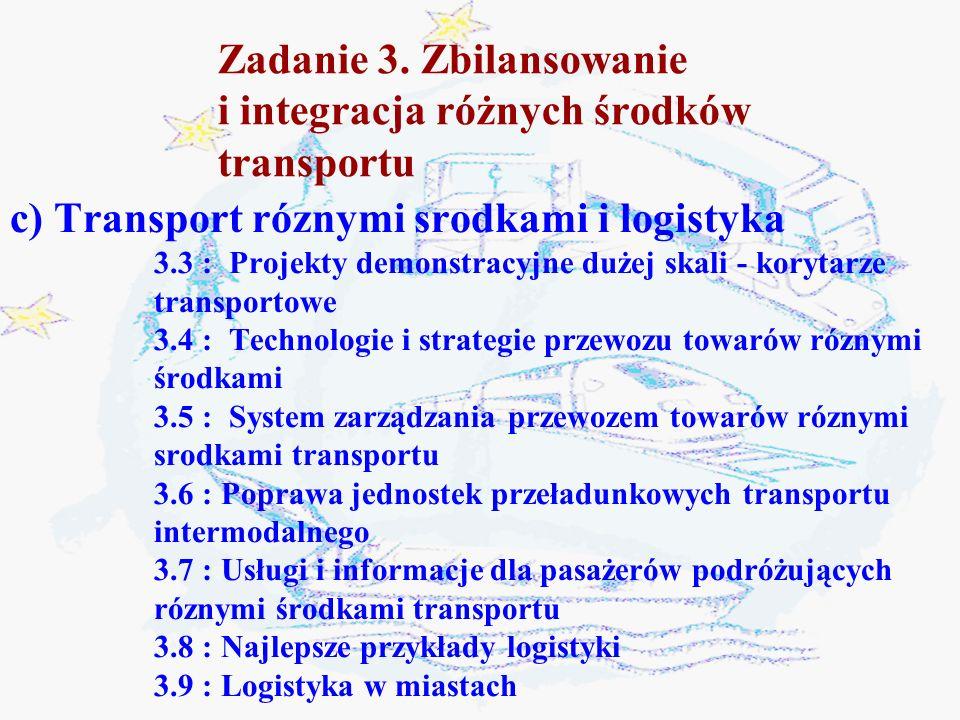 Zadanie 3. Zbilansowanie i integracja różnych środków transportu