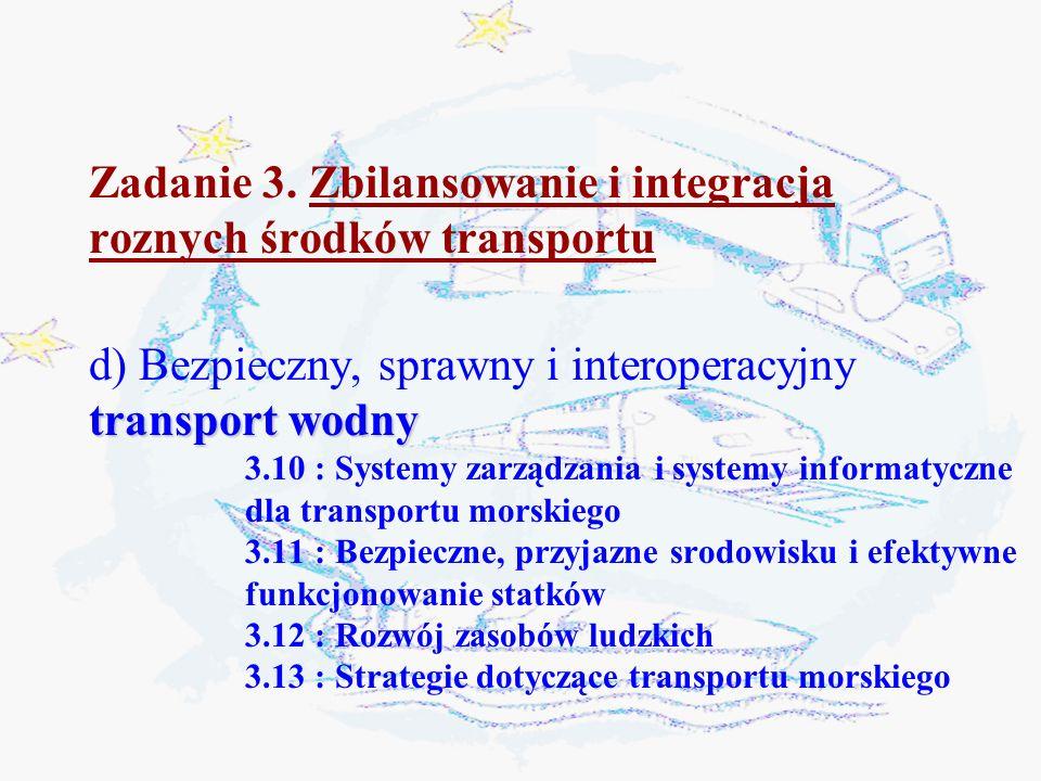 Zadanie 3. Zbilansowanie i integracja roznych środków transportu
