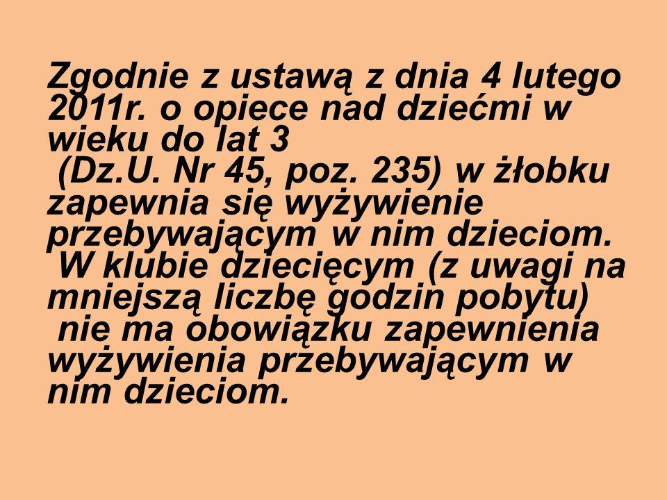 Zgodnie z ustawą z dnia 4 lutego 2011r