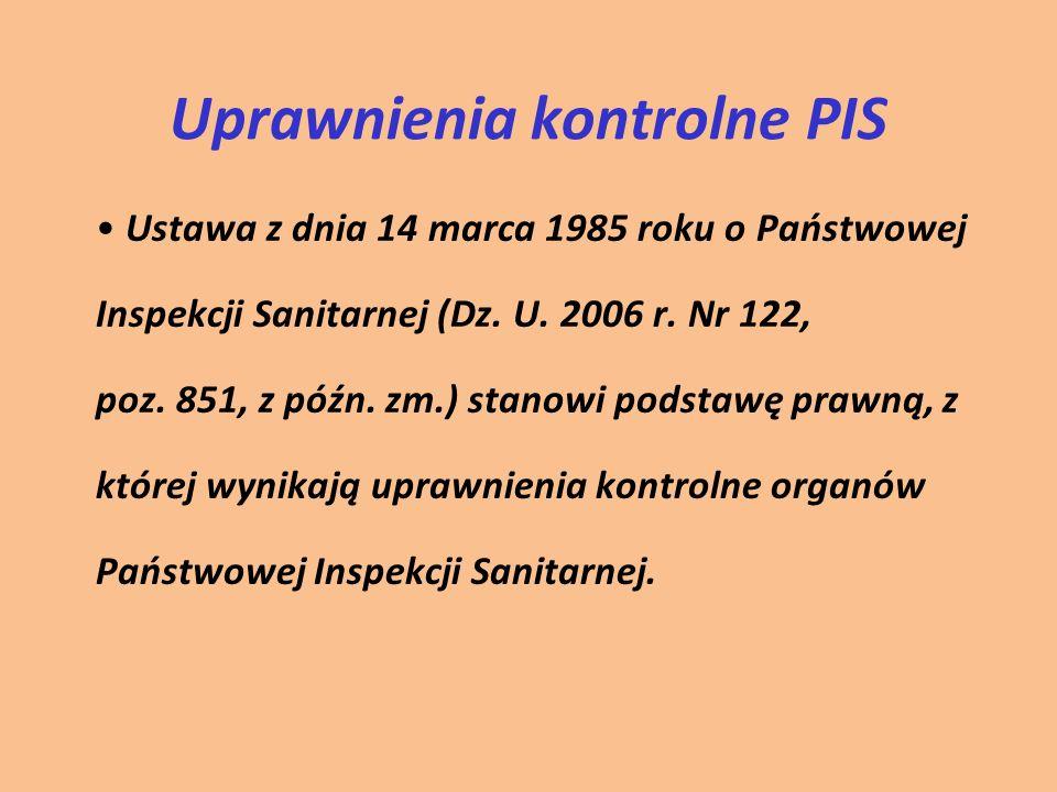 Uprawnienia kontrolne PIS