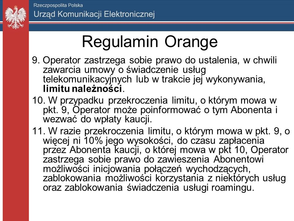 Regulamin Orange