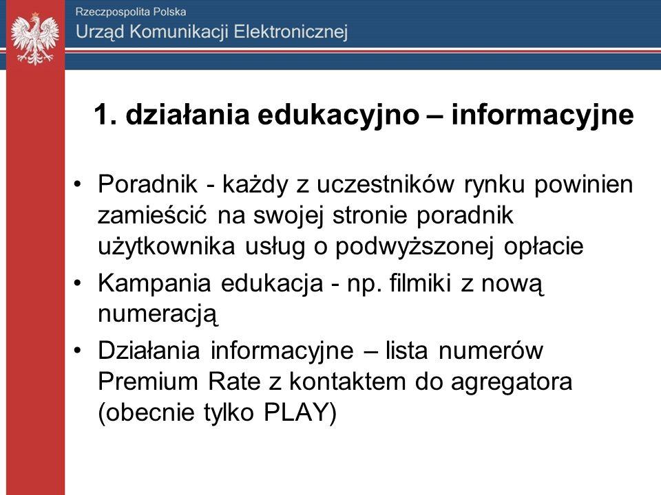 1. działania edukacyjno – informacyjne