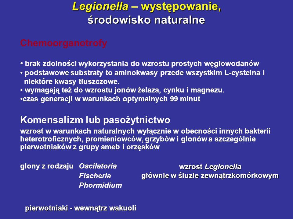 Legionella – występowanie, środowisko naturalne