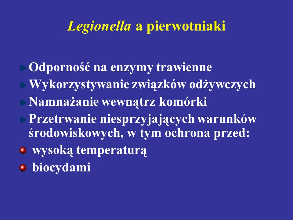 Legionella a pierwotniaki