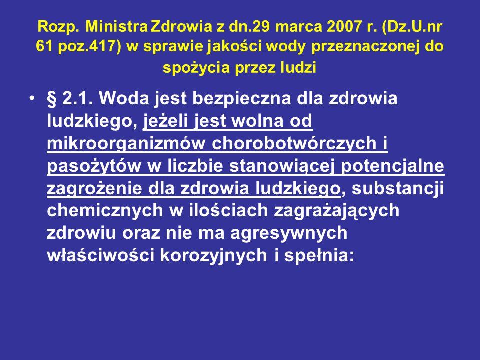 Rozp. Ministra Zdrowia z dn. 29 marca 2007 r. (Dz. U. nr 61 poz