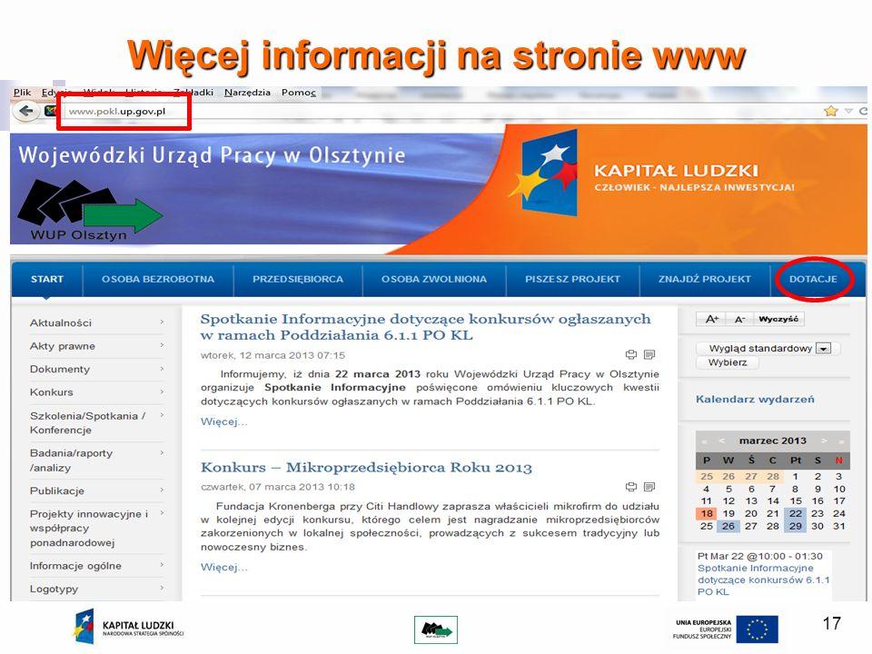 Więcej informacji na stronie www