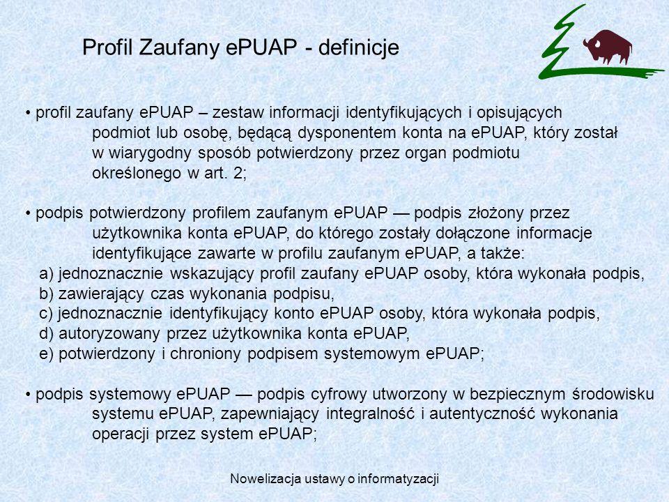 Profil Zaufany ePUAP - definicje
