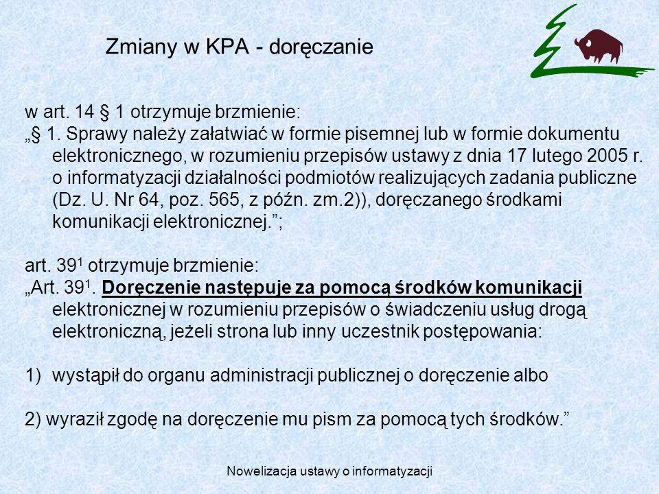 Zmiany w KPA - doręczanie