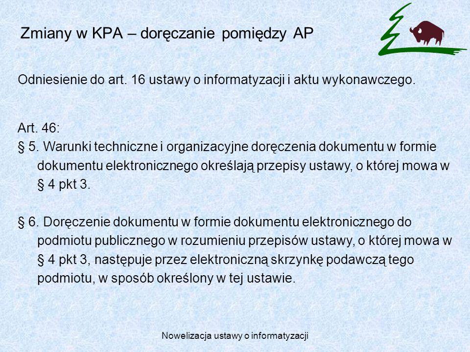 Zmiany w KPA – doręczanie pomiędzy AP