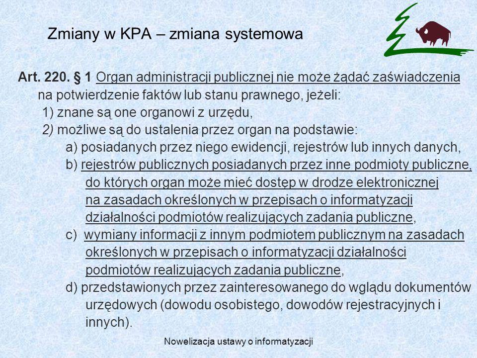Zmiany w KPA – zmiana systemowa