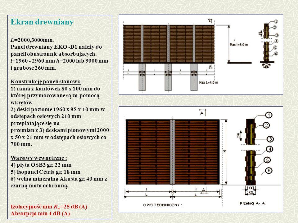 Ekran drewniany