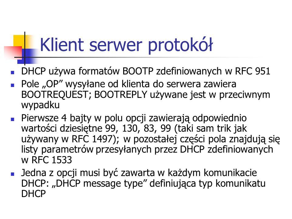 Klient serwer protokół