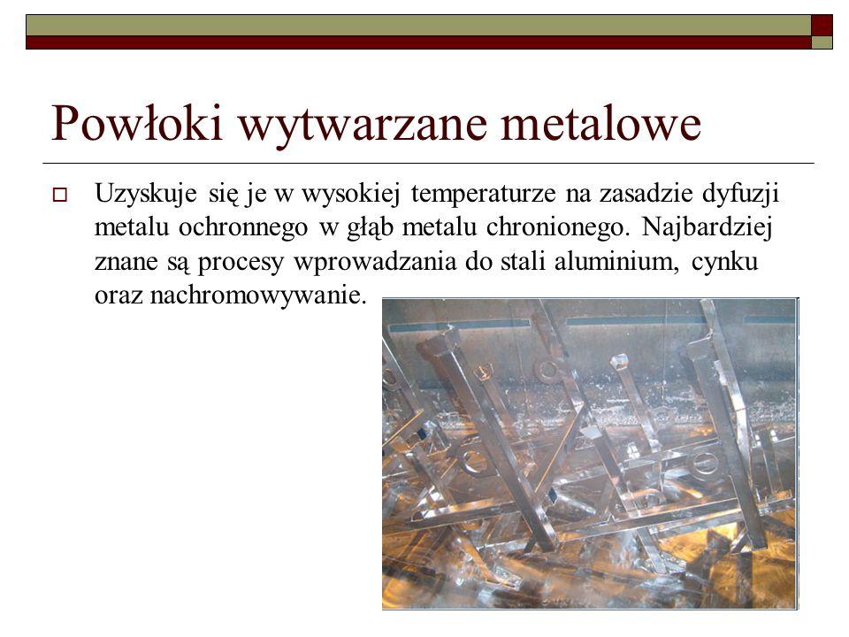 Powłoki wytwarzane metalowe