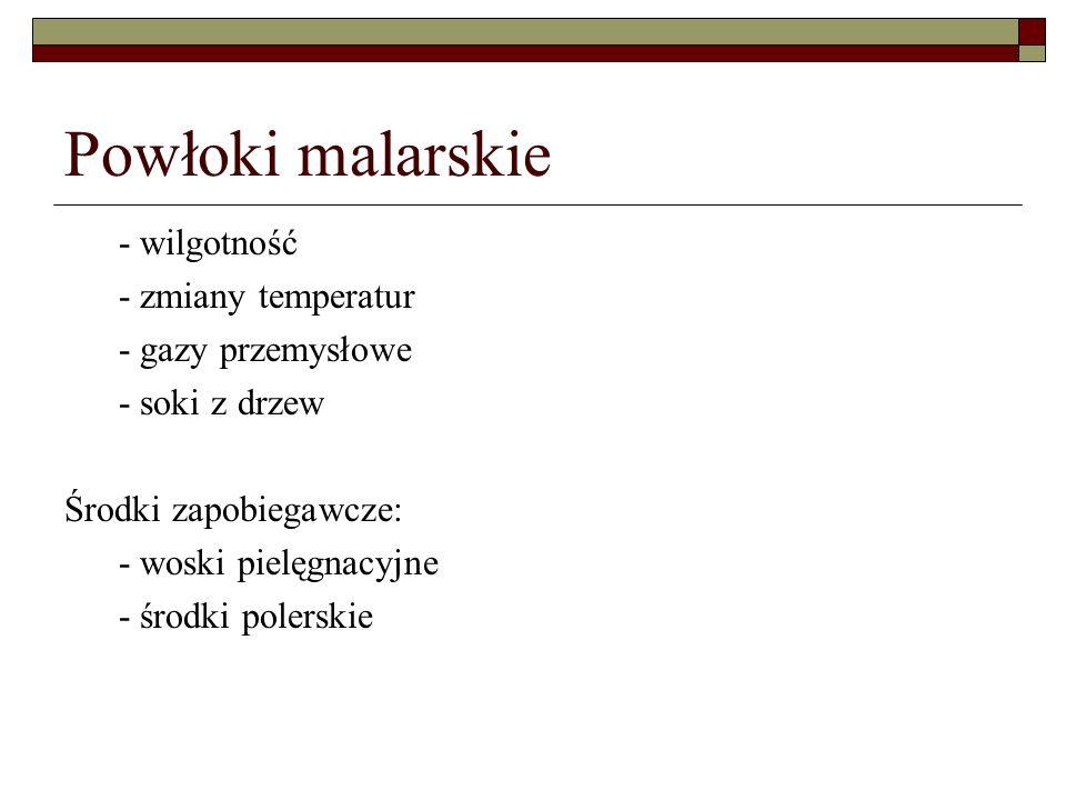 Powłoki malarskie - wilgotność - zmiany temperatur - gazy przemysłowe