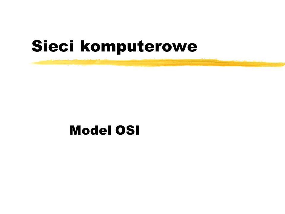 Sieci komputerowe Model OSI