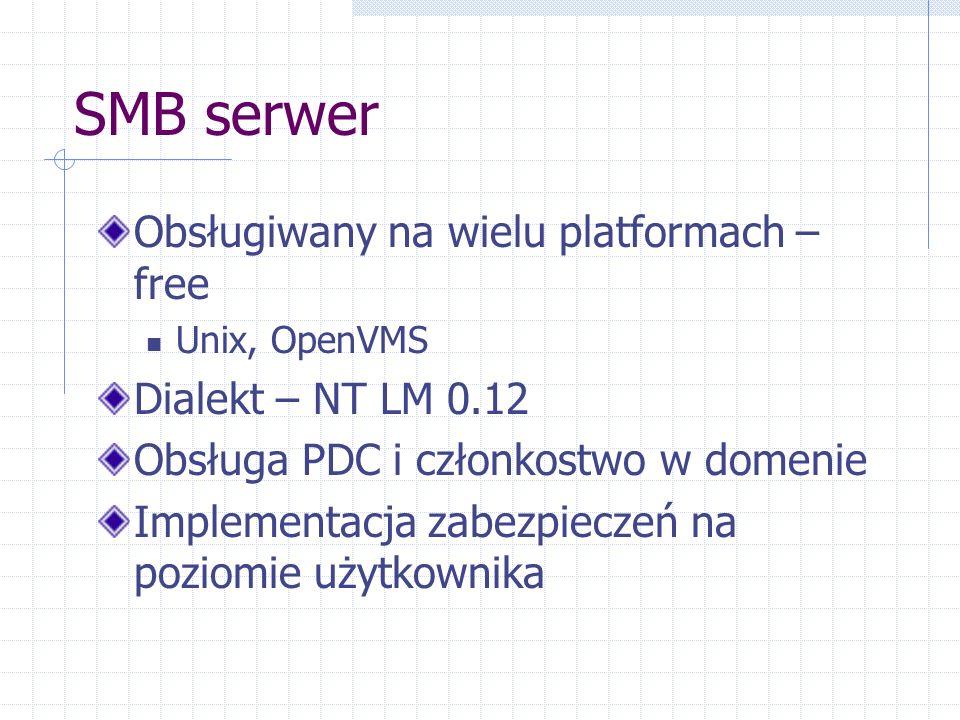SMB serwer Obsługiwany na wielu platformach – free