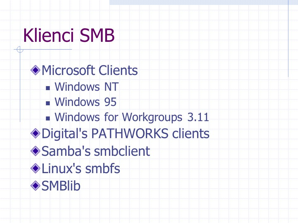 Klienci SMB Microsoft Clients Digital s PATHWORKS clients