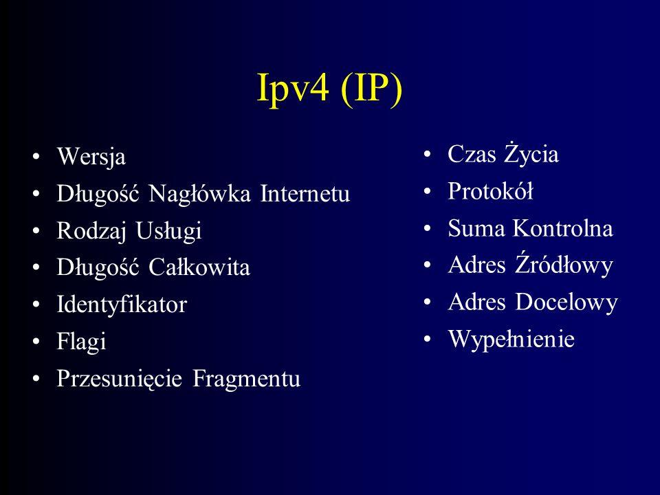 Ipv4 (IP) Czas Życia Wersja Protokół Długość Nagłówka Internetu