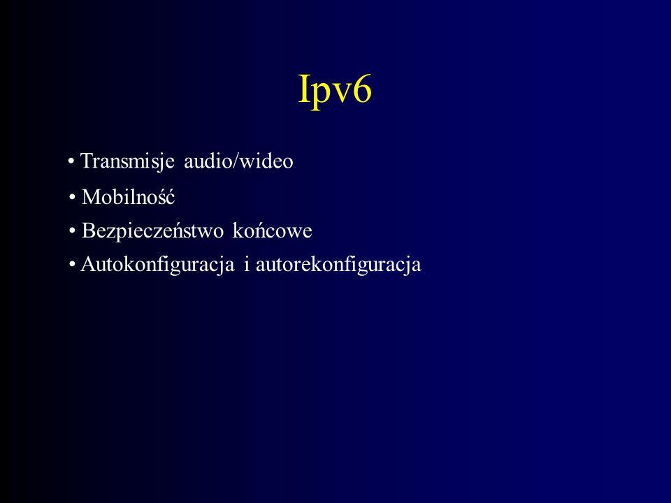 Ipv6 Transmisje audio/wideo Mobilność Bezpieczeństwo końcowe