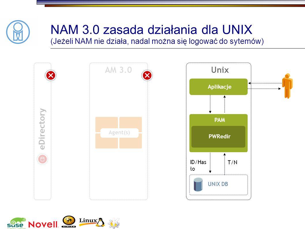 NAM 3.0 zasada działania dla UNIX (Jeżeli NAM nie działa, nadal można się logować do sytemów)
