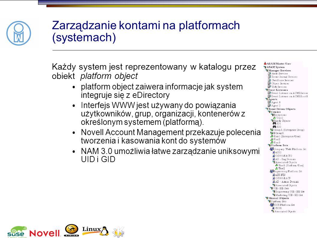 Zarządzanie kontami na platformach (systemach)