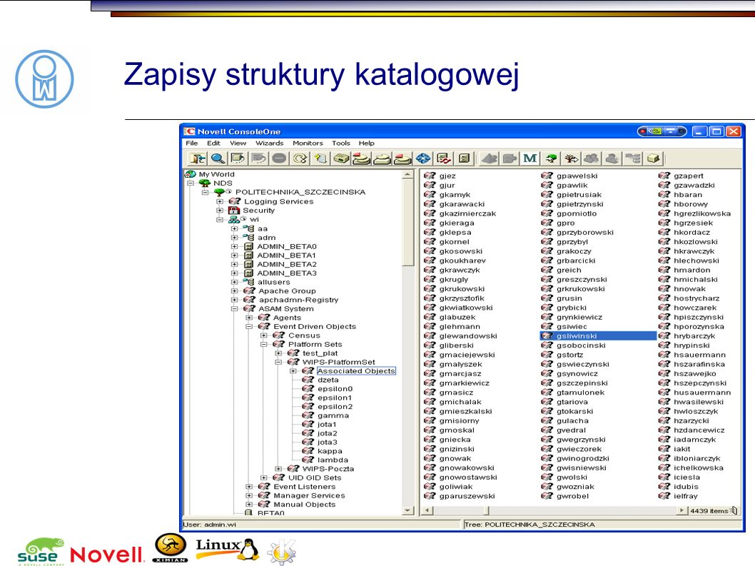 Zapisy struktury katalogowej