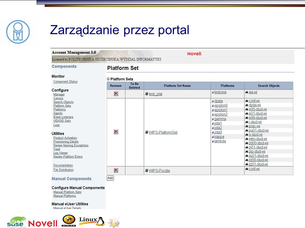 Zarządzanie przez portal