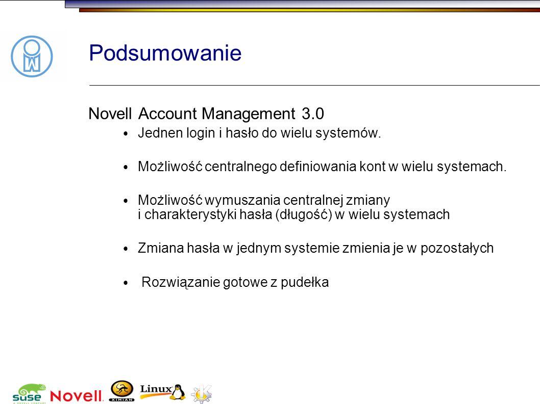 Podsumowanie Novell Account Management 3.0