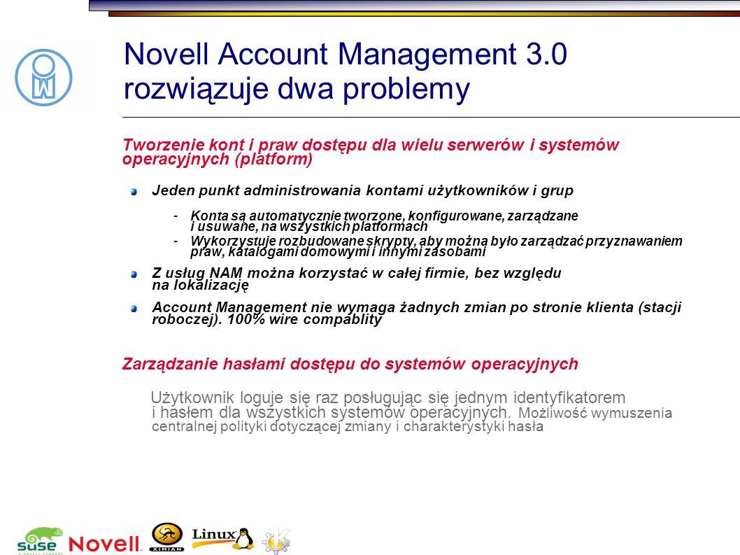 Novell Account Management 3.0 rozwiązuje dwa problemy