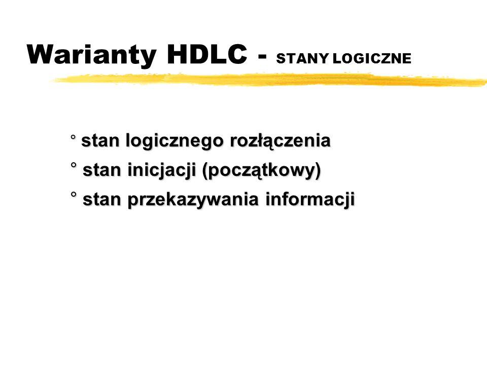 Warianty HDLC - STANY LOGICZNE