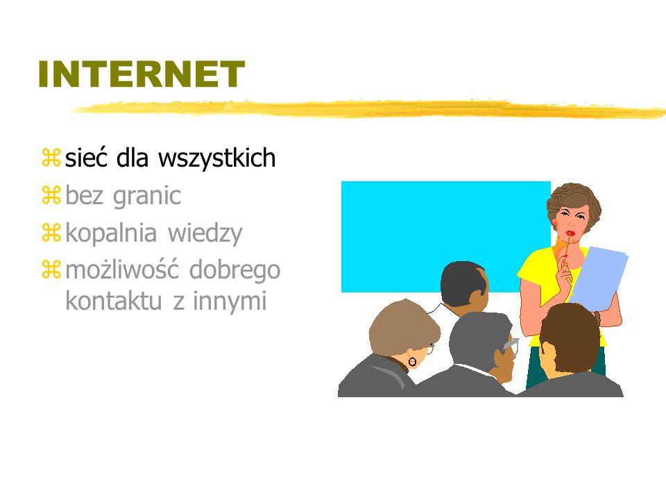INTERNET sieć dla wszystkich bez granic kopalnia wiedzy