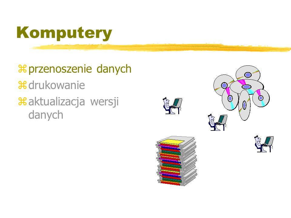 Komputery przenoszenie danych drukowanie aktualizacja wersji danych